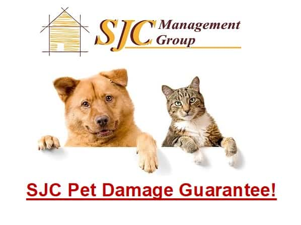 SJC Pet Damage Guarantee!